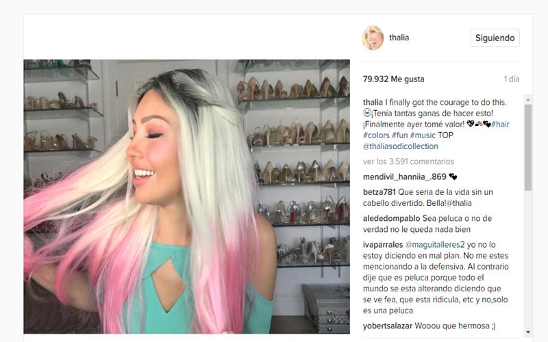 ¿Qué se hizo Thalía en el pelo?