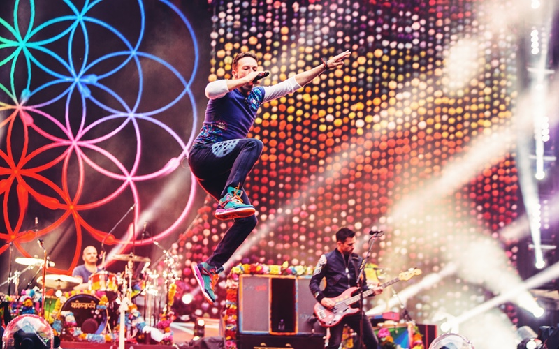La gran noche de Coldplay