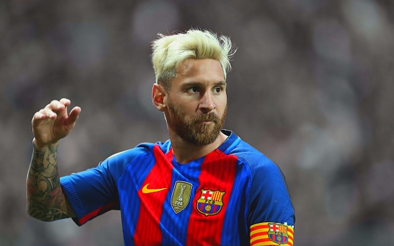 ¿Messi cambió su look?